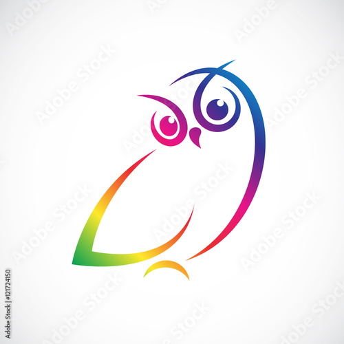 Photo Stands Owls cartoon Vector of owl design on white background.