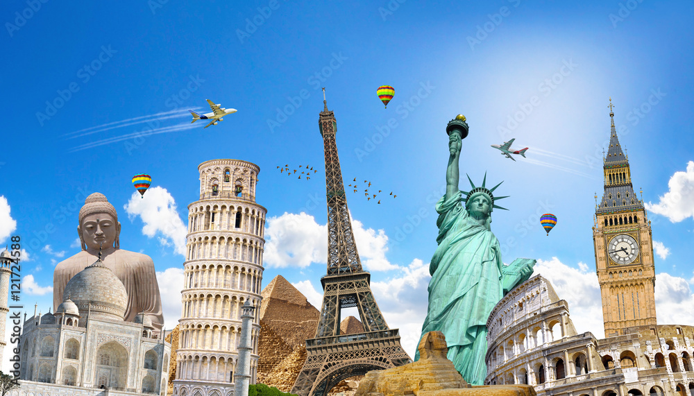 Fototapety, obrazy: Famous landmarks of the world