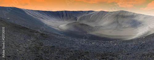 Photo Hverfjall crater in Myvatn area, northern Iceland, panoramic view