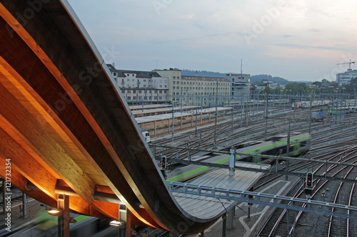 Foto auf AluDibond Bahnhof bahnhof bern, schweiz