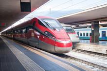 High Speed Train Engine Arrivi...