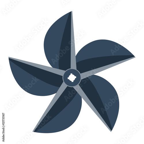 Propeller fan vector illustration. Wall mural