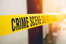 Crime Scene Tape In Front Room...