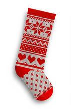 Knitted Christmas Stocking, Illustration