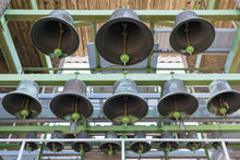 Bells Of Carillon In Tower Of Dutch Village Emmeloord