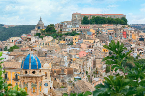 Fotografie, Obraz  The cityscape of the town of Ragusa Ibla in Sicily in Italy