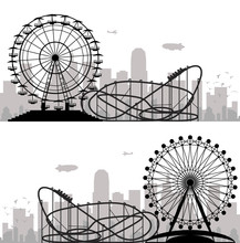 Vector Background Of A City An...