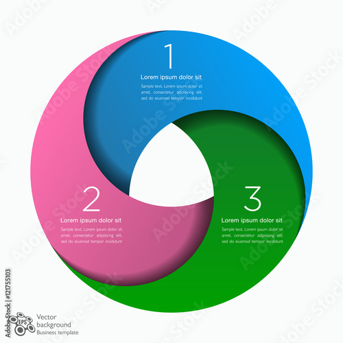 Fotografia  Infographic Vector Background 3-Step Process