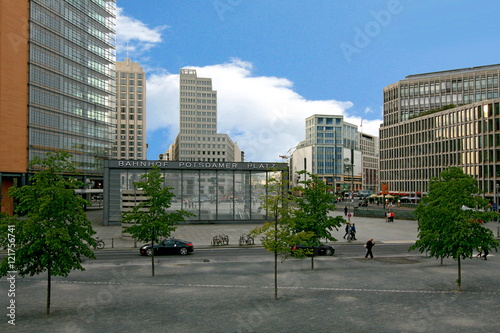 Fotografie, Obraz  Potsdamer Platz - A view of Potsdamer Platz and busy intersection in the center