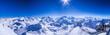 Winterpanorama vom Mont Fort mit Mont Blanc