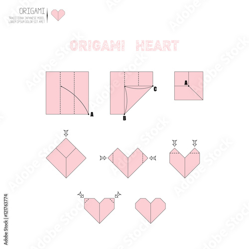 6 easy activities with Valentine's Origami hearts for preschoolers | 500x500