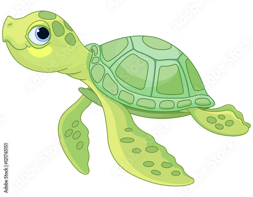 Stickers pour porte Magie Sea Turtle