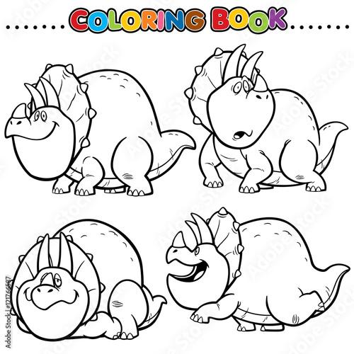 Fotografering  Cartoon Coloring Book -Dinosaurs
