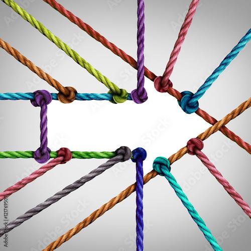 Fotografie, Obraz  Success Arrow Connection