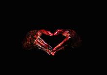 Halloween Theme:Bloody Hands , Black Background, Zombie, Demon, Killer