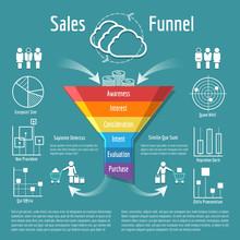 Sales Funnel Vector Illustrati...