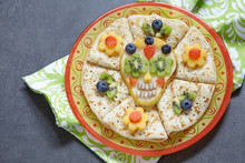 Sugar Scull Pear With Crepes