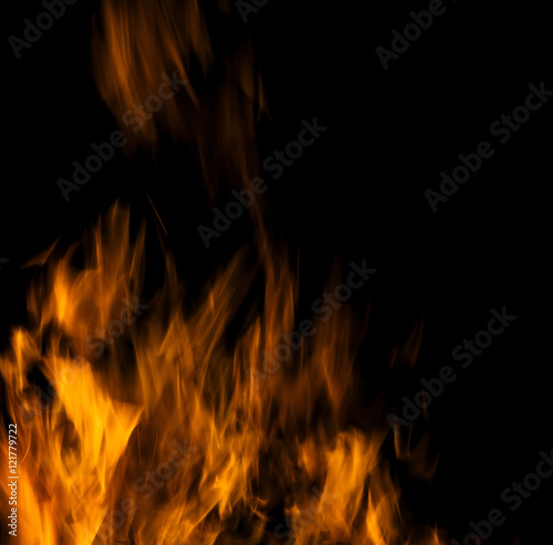Fotografie, Obraz  sparks of bonfire.