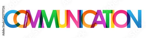 Fotografie, Tablou  COMMUNICATION Colourful Vector Letters Icon