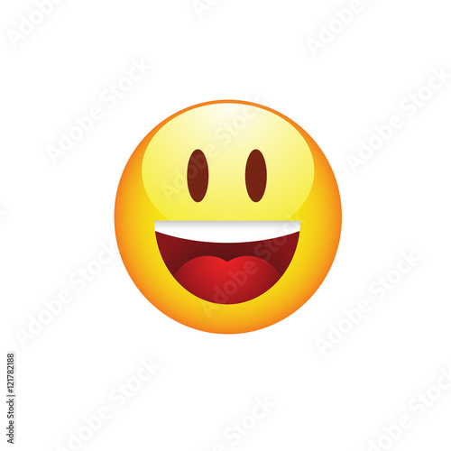 Photo  Smiling emoticon with smiling eyes
