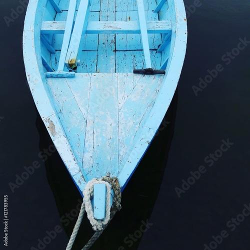 Fotografie, Obraz Blue rowing boat