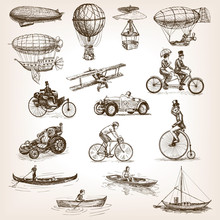 Vintage Transport Set Sketch S...