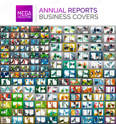 Mega collection of annual report covers Poster