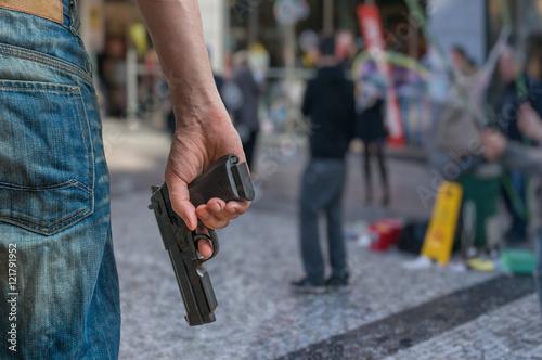 Photo Gun control concept