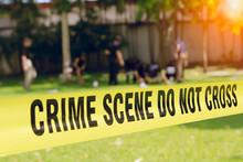 Crime Scene Tape And Blurred L...