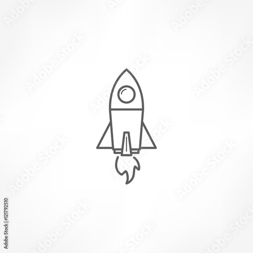 Carta da parati rocket icon