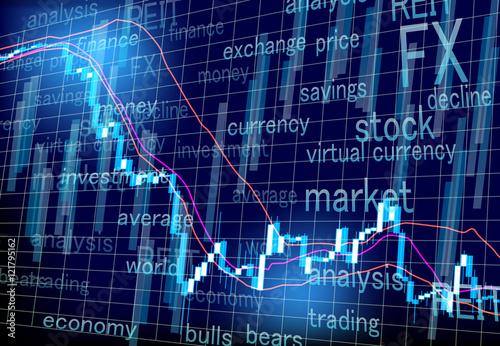 Fotografía  stock prices FX market