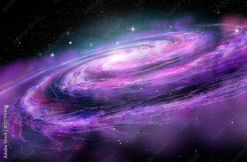 Fototapety, obrazy: Spiral Galaxy in deep spcae, 3D illustration