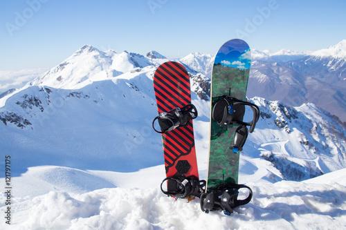 Fotobehang Wintersporten Snowboarding