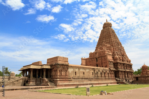Fotografie, Obraz  Brihadeeswara Temple in Tanjore, Tamil nadu India, Oldest and tallest Temple in India