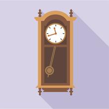 Digital Vector Old Clock In Wo...