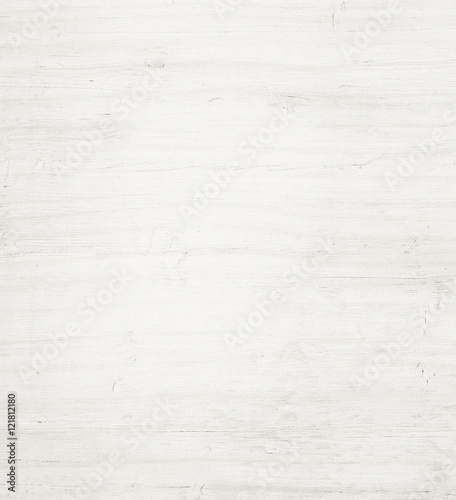 Fototapety, obrazy: Light white wooden plank, tabletop, floor surface or cutting board.
