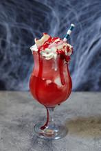 Halloween Vampire Ice Cream Floats