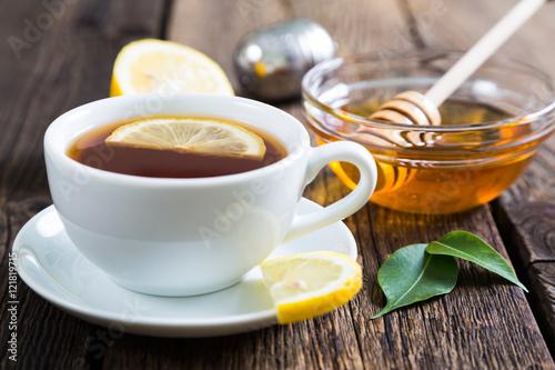 Photo sur Toile The Tea with honey and lemon