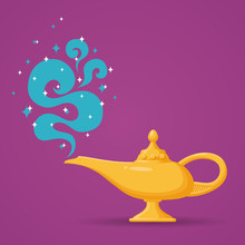 Magic Aladdin Lamp Vector Illu...
