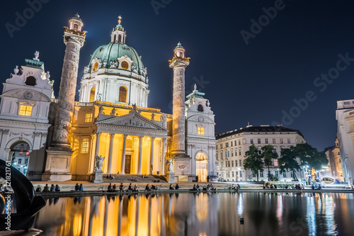 Karlskirche or St  Charles's Church - one of famous churches in
