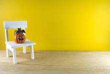 Pumpkin On The White Chair