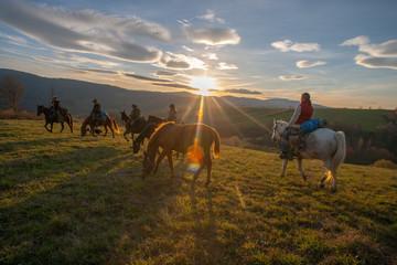 Jesienny rajd konny w Bieszczadach