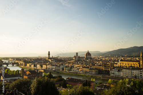 Fotografie, Obraz  View of the Cathedral Santa Maria del Fiore , Florence, Italy