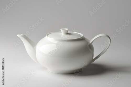 Fotografie, Obraz  Spherical teapot white porcelain