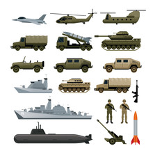 Military Vehicles Object Set, ...