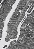 Fototapeta Nowy York - Vector detailed map New York