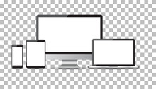 Realistic Device Flat Icons: S...