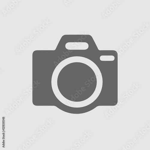Obraz Photo camera vector icon. Simple isolated sign. Picture photo logo vector icon. - fototapety do salonu