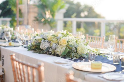 Fotografie, Obraz  wedding reception setup