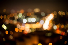 Unclear View Of City Night. Bl...